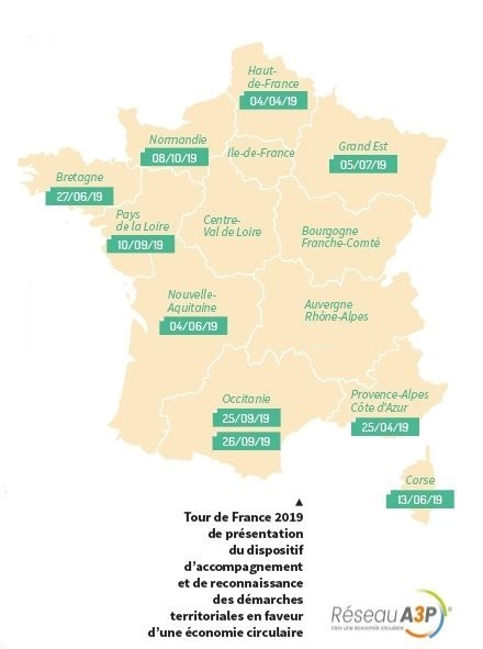 Tour de France 2019 de présentation du dispositif d'accompagnement des démarches territoriales en faveur d'une économie circulaire