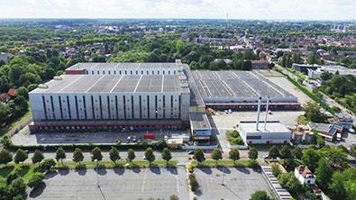 Photo aérienne du site initial avant démolition