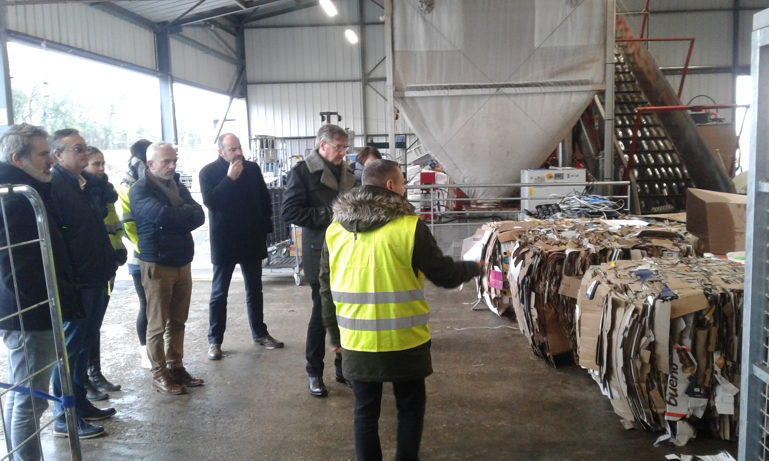 Visite des présidents des Club du site Coop Ecoval, en prsence de PSO